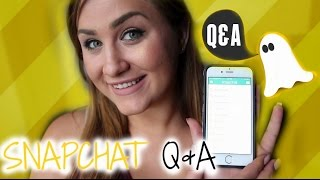 MORE PLASTIC SURGERY? MOVING IN TOGETHER? SNAPCHAT Q&A!