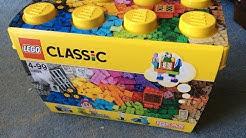 "LEGO Classic 10698 ""Large Creative Brick Box"" Unboxing, Speedbuild Part Analysis & Review"
