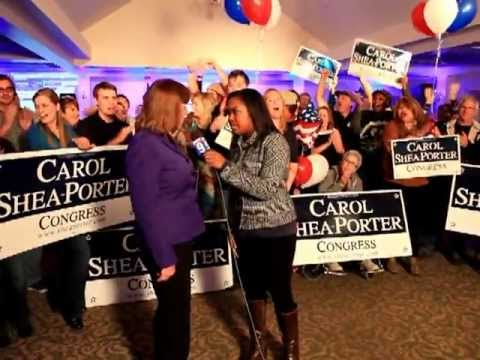 New Hampshire Voters Return Carol Shea-Porter To Congress in the 1st Congressional District...Hooray
