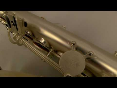 Schiller Premier Havana Tenor Saxophone - Sandblasted Silver Finish
