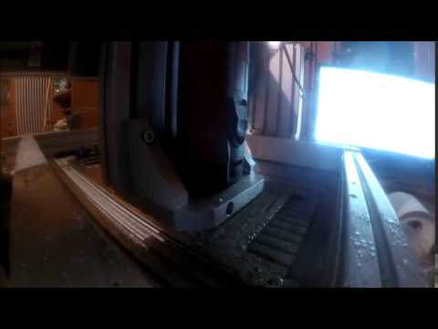 Homemade CNC router test with aluminium sheet metal parts