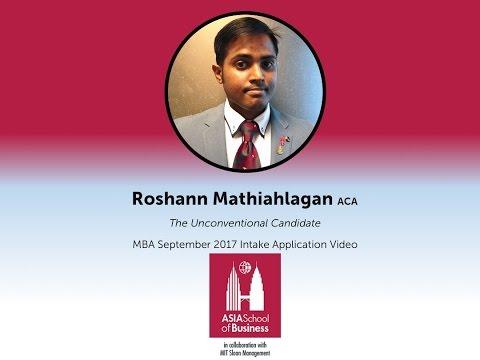 Asia School of Business MBA Program Application Video - Roshann Mathiahlagan
