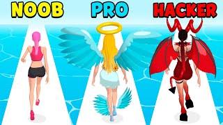 NOOB vs PRO vs HACKER - Destiny Run screenshot 2