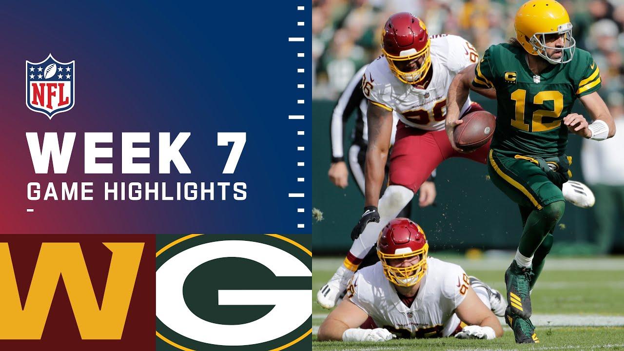 Washington Football Team vs Packers Week 7 Highlights  NFL 2021