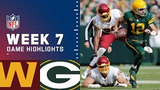 Washington Football Team vs. Packers Week 7 Highlights   NFL 2021