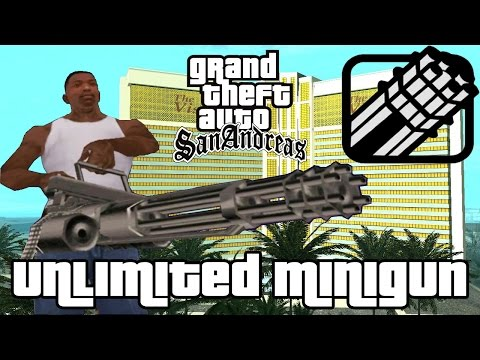 GTA San Andreas Unlimited Minigun Glitch!
