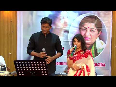 Dholna song by Vinita Sawant & Ashok Gupta at Jashn Lata Special