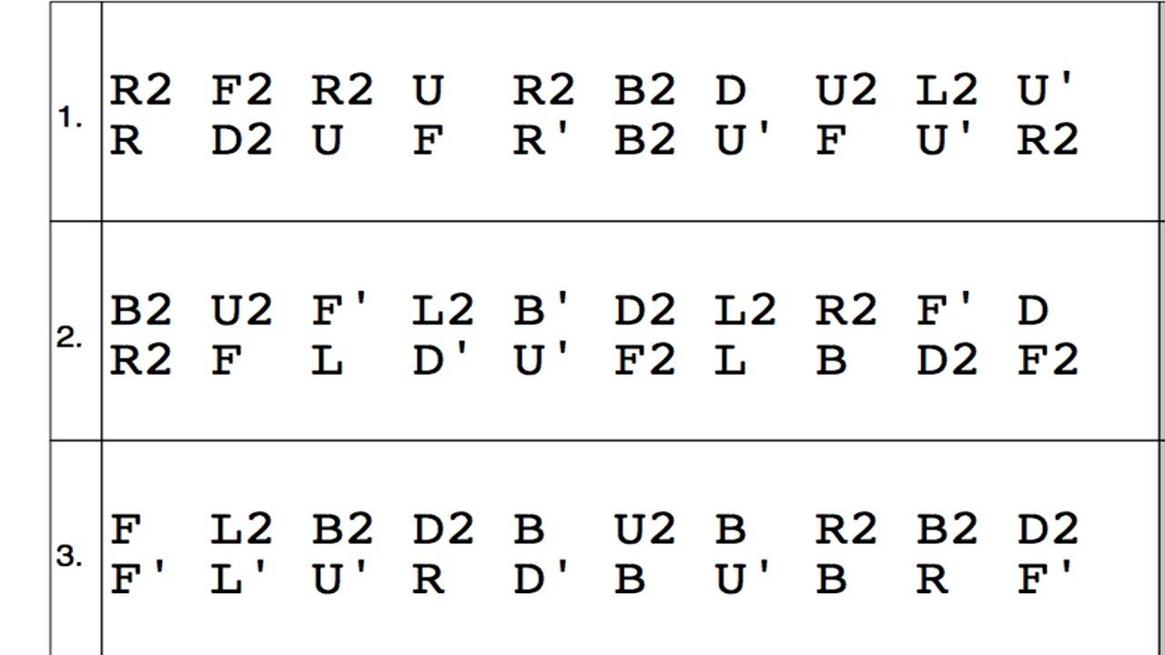 how to read rubik s cube algorithms  [ 1280 x 720 Pixel ]