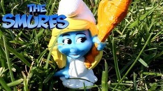 The Mcdonalds Smurfs 2 Toys defeat Gargamel and the Evil Smurfs!