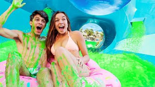 TURNING MY BACKYARD INTO A SLIME WATERPARK