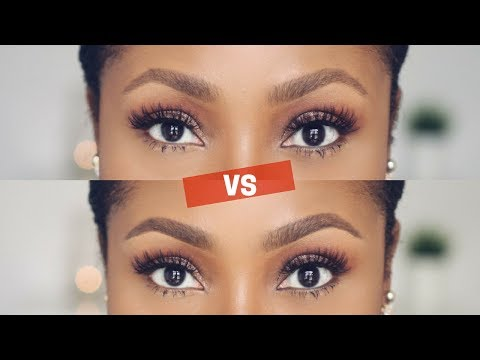 NATURAL (SOFT) VS DEFINED BROWS - HOW TO DO BOTH | DIMMA UMEH