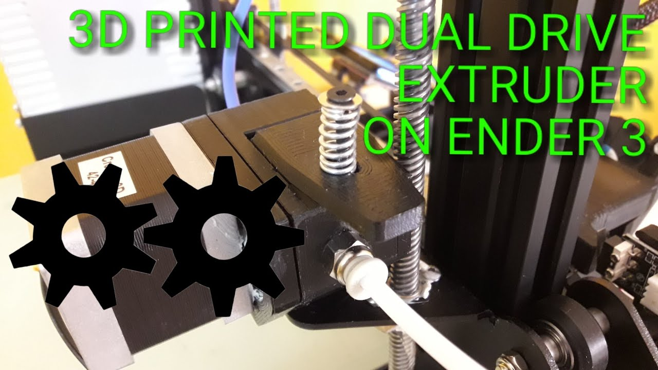 3D Printable Dual Drive Geared BMG Extruder- Demo and Assembly video