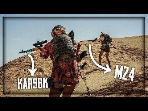 KAR98K + M24 JAM ! Playerunknown's Battlegrounds
