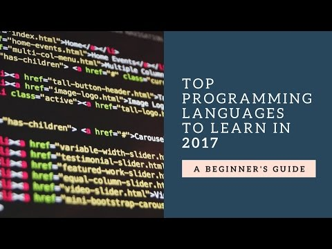 Top Programming Languages to learn in 2017 ?