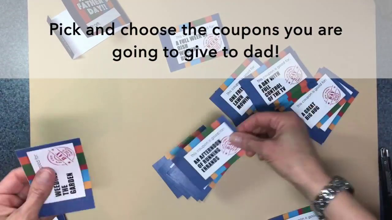 how to make a fathers day coupon book