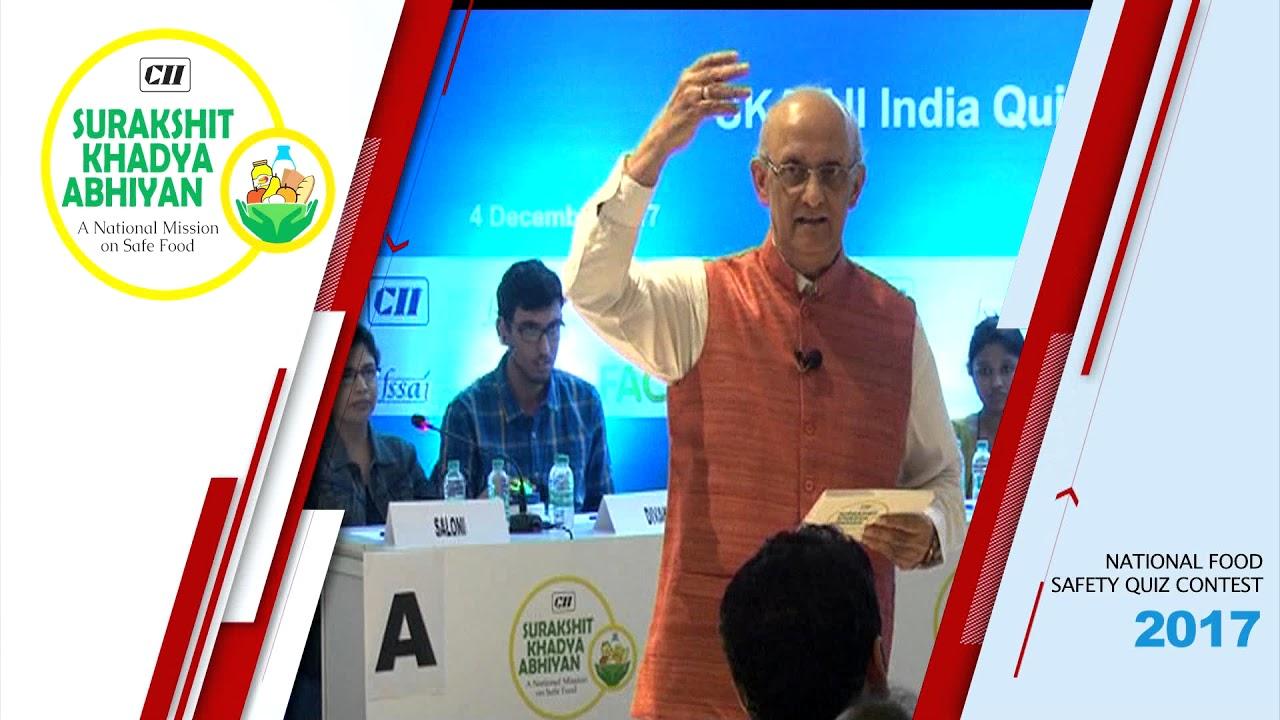 CII Surakshit Khadya Abhiyan (SKA) All India Quiz Competition on Food  Safety 2017
