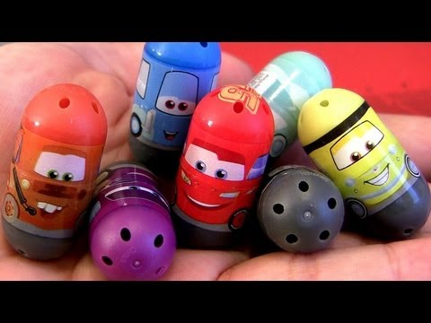 Cars 2 Mighty Beanz Toys Review Mater, Lightning McQueen, Flo, Ramone, Luigi, Guido Disney Pixar
