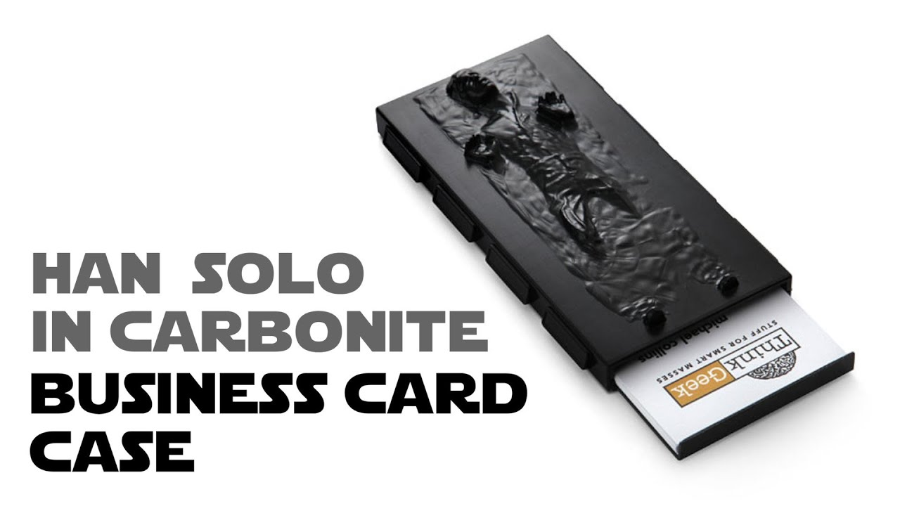 Han Solo in Carbonite Business Card Case from ThinkGeek - YouTube