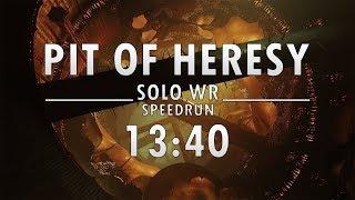 Pit of Heresy Solo WR Speedrun [13:40] by Treezy