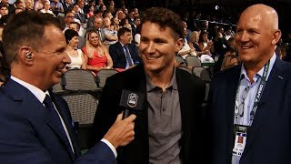 Matthew Tkachuk chirps brother Brady at NHL Draft