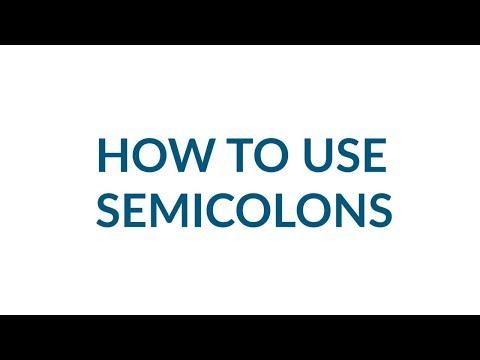 25-Second Grammar: Semicolons