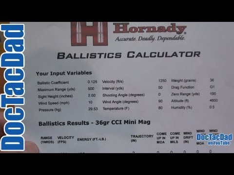 Long Range Ballistics Calculator and App - YouTube