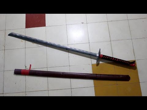How to make a katana (Japanese sword) with A4 printer paper - DIY (Henry Phạm)