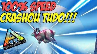 O DINO MAIS RAPIDO DO ARK CRASHOU O SERVER!!! 100% SPEED!!! - ARK GONDWANA #18