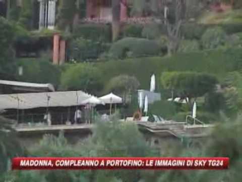 Madonna holiday in portofino italy