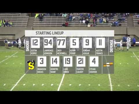 Carroll at Snider | IHSAA Sectional Football