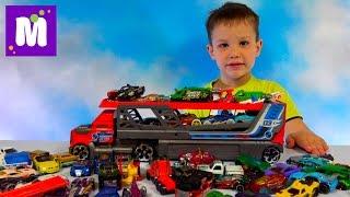 Хот Вилс машина большой автовоз стреляет машинками много машинок Hot Wheels toy large cars carrier