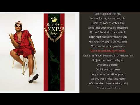 Versace On The Floor with sync lyrics -Bruno Mars  (1 HOUR LOOP / 1 HORA / 1 시간 )