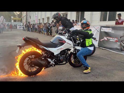HERO XTREME 160R Stunt Show RNSIT-MBA BANGALORE.