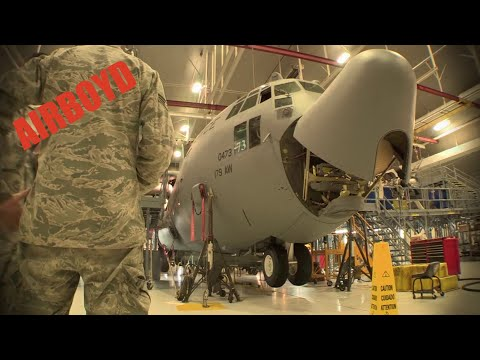 C-130 Hercules Maintenance Time-lapse
