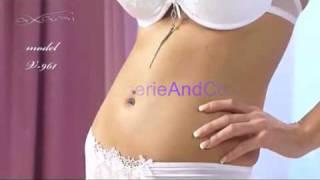 Ensemble lingerie Axami, soutien gorge push up et shorty blanc