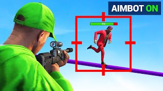CHEATING In GTA 5 SNIPERS vs. RUNNER! (AIMBOT)