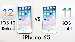 iOS 12 Beta 4 Vs iOS 11.4.1 On iPHONE 6S! (Comparison) (Review)