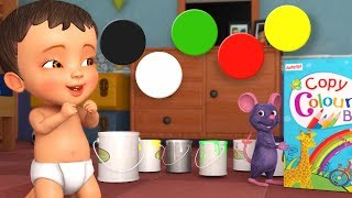 Pancharangulu Colours in Telugu | Telugu Rhymes for Children | Infobells