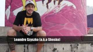 O artista Leandro Szyszko (a.k.a Shesko) fala sobre seu trabalho