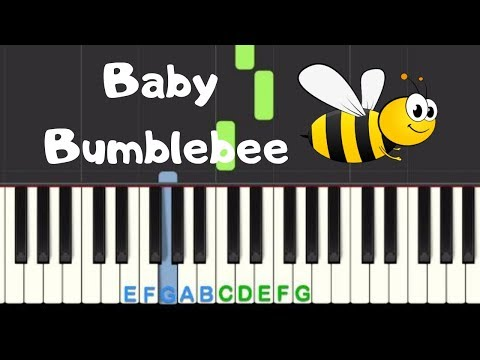 Baby Bumblebee: Easy Piano Tutorial with free sheet music thumbnail