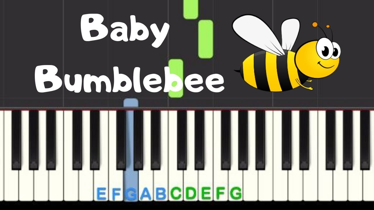 Baby Bumblebee: Easy Piano Tutorial with free sheet music