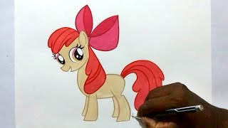 how to draw my little pony Apple Bloom easy