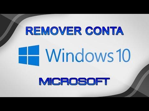 Como remover conta microsoft no Windows 10 e fazer login com conta local