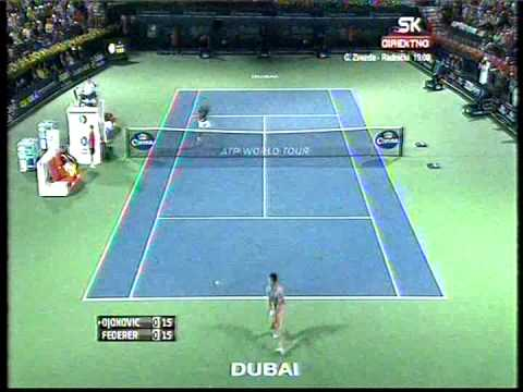 Novak Djokovic vs Roger Federer - ATP Dubai 2014. Best Point (bojan svitac)