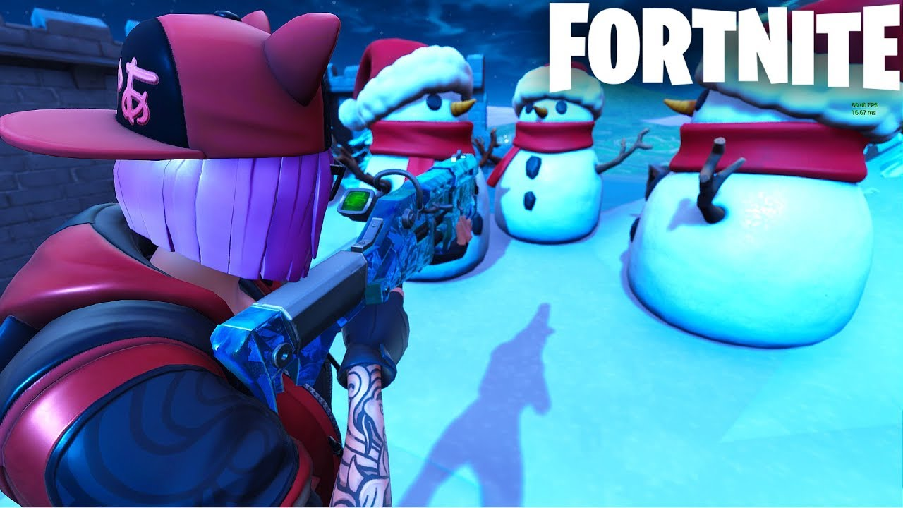 *AMAZING* HIDE AND SEEK PROP HUNT MAP WITH SNOWMEN || FORTNITE CREATIVE  (CODES IN DESCRIPTION)