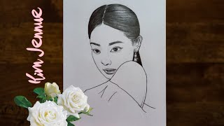 Pencil Sketch Drawing of  Blackpink Jennie-Step By Step  Drawing Tutorial  YouCanDraw