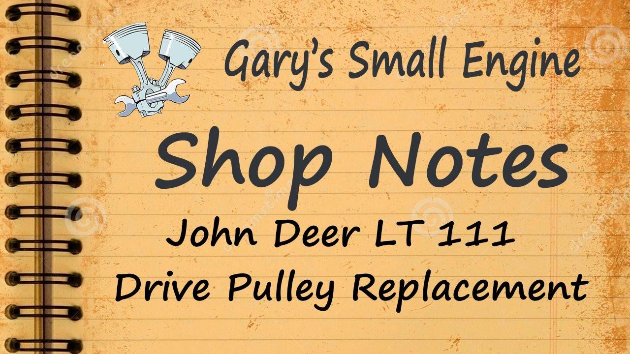medium resolution of john deer 111 deck pulley