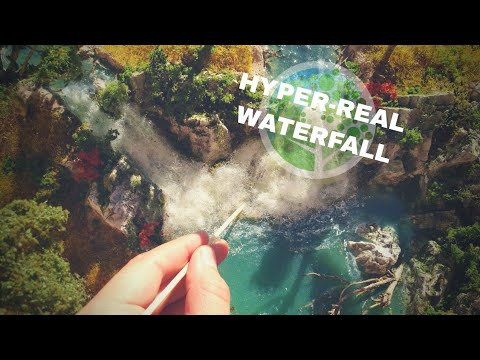Awesome waterfall diorama: how to make the ultimate realistic scene
