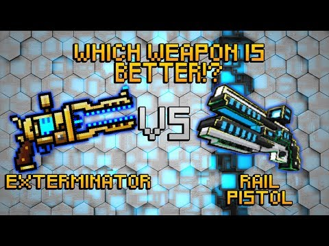 Pixel Gun 3D Exterminator VS Block City Wars Rail Pistol