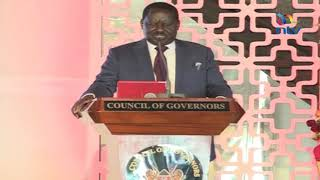 Raila on MCAs and county speakers' dirty business